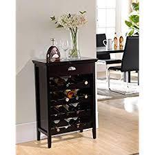 Amazon Com Kings Brand Furniture Wood Buffet Wine Rack Cabinet With Regard To Idea 2