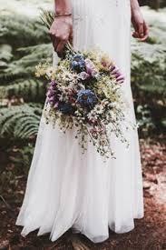 Bohemian Wedding In The Woods Wild Flower Bouquet By Femke Photo Inspire Styling