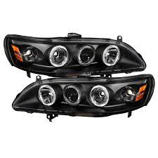spyder auto honda accord 98 02 1pc projector headlights led
