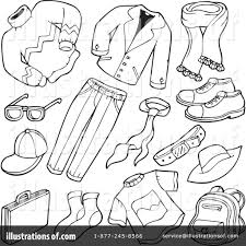 Clothing Clipart Black And White