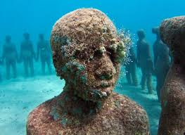 Underwater Sculpture Park In Grenada West Indies
