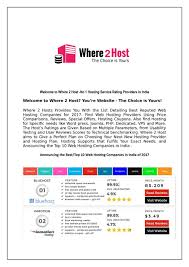 Where 2 Host-Top 10 Best Web Hosting Companies In India By Where2 ... Top 10 Best Website Hosting Insights February 2018 Web Ecommerce Builders 2017 Youtube Hosting Choose The Provider Auskcom Web Companies 2016 Cheap Host Companies Uk Ten Hosts Free Providers Important Factors Of A Hostingfactscom And Hostings In Review Now Services 2012 Infographic Inspired Magazine Where 2 Hosttop India Where2