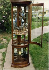 Curved Glass Curio Cabinet by The Curio Cabinets The Art Of Monte Ellis