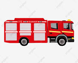 100 Fire Truck Red Hand Drawn Disaster Relief