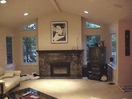 Vaulted Ceiling Living Room