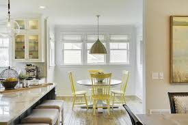 yellow dining chairs transitional dining room farrow and