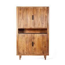 massivholz wohnzimmerschrank vintage stil