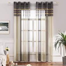 miulee voile vorhang transparente gardine aus voile mit ãsen
