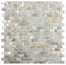 cream brick pearl shell tile modern tile by subway tile outlet
