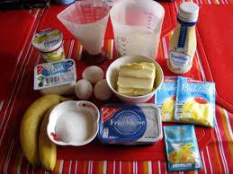 quark frischkäse kuchen mit bananen