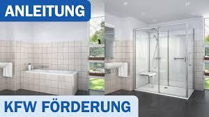 kfw förderung für barrierereduzierung im bereich duschplätze in ihrem bad