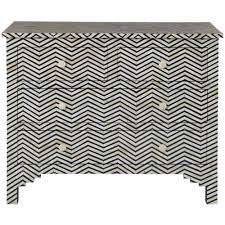Black Dresser 4 Drawer by Rudy Global Bazaar Black White Herringbone Bone 4 Drawer Dresser