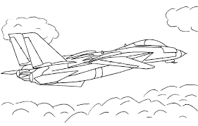 Jet Airplane Coloring Pages