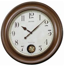 Rhythm Large Traditional Round Pendulum Wall Clock