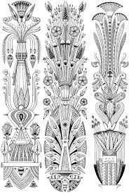 Creative Haven Art Deco Egyptian Designs Coloring Book Artwork Adapted From By Paul Marie