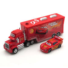Pixar Cars Mack Trailer Hauler Superliner Truck & Racers Kids Toy ...