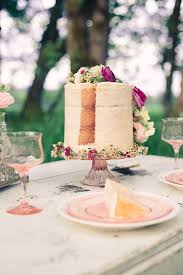 Sliced Floral Naked Cake From A Whimsical Rustic Wedding Via Karas Party Ideas KarasPartyIdeas