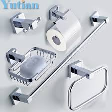 304 Stainless Steel Bathroom Accessories Set Robe hook Paper