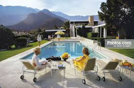 poolside slim aarons mid century and house