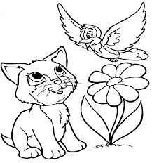 Puppy Kitten Coloring Pages Puppies Kittens Cute Baby Free To Print Full Size