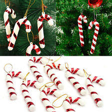 12Pcs Xmas Tree Candy Cane Hanging Ornament Decoration Christmas Party Decor
