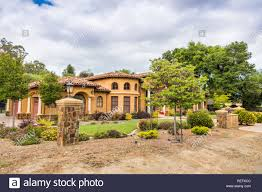 100 Saratoga Houses Exterior View Of A Large House Located On The Hills Of