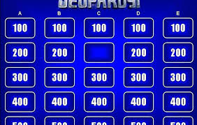 Jeopardy Template Blank Game With Sound Download Review Powerpoint