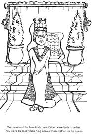 BIBLE COLORING PAGES Esther Becomes Queen