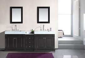 Single Sink Vanity With Makeup Table by Odyssey 88 U2033 Double Sink Vanity Set With Trough Style Sinks