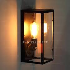 wrought iron wall sconces lighting rectangular outdoor wall