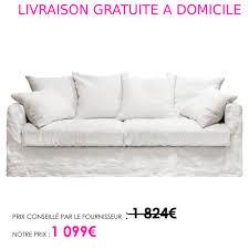 canapé lit livraison gratuite canapé 3 places convertible froissé blanc blanc eline