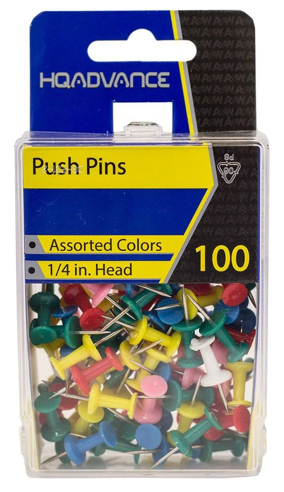 A & W Products Push Pins - 100 Push Pins