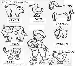 Animales De Granja Para Colorear Escuela En La Nube Recursos