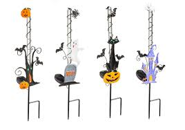 Halloween Yard Stake Lights by The Holiday Aisle 4 Piece Solar Halloween Garden Stake Set