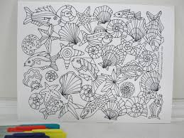 Seashore Under The Sea Coloring Page Downloadable PDF