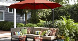 Outdoor Sectional Sofa Canada by Exterior Breathtaking Cantilever Patio Umbrella Red Lowe Offset
