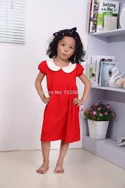 aliexpress com buy free shipping red cotton girls dress with