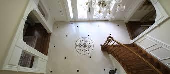 floor entry designs entry foyer with custom waterjet medallion