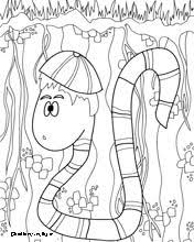 Image Result For Free Colouring Printables Kids Snakes