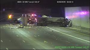 100 Semi Truck Pictures Truck Rollover At I10 And 7th Street Causes Morning Road Closures