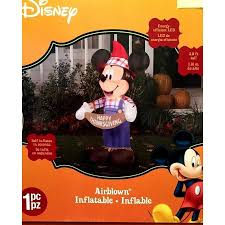 Airblown Inflatable Halloween Yard Decorations by Mickey Mouse Scarecrow Airblown Inflatable Halloween Yard Art Lawn