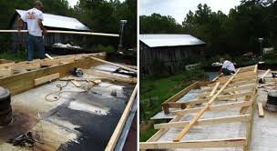 Building a new roof for a mobile home