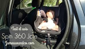 siege auto jumeaux test siège spin 360 joie dos à la route et pivotant avis jumeaux