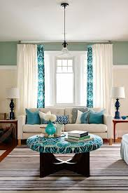 Colorful Living Room Decor Turquoise Ideas Family Color On Comfy Farmhouse Designs