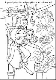 Fabulous Frozen Disney Halloween Coloring Pages With Rapunzel And