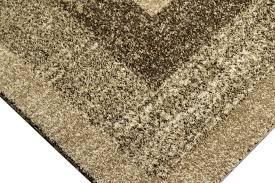 moderner teppich kurzflor wohnzimmerteppich braun beige