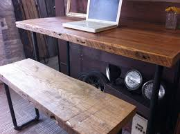 Reclaimed Wood Desk Top Office Furniture Modern Custom Buy A Crafted Industrial Salvaged Wood Desk Made To Order From
