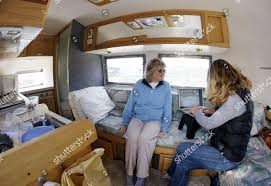 100 2011 Airstream Karen Fields Left Sits Her Trailer Editorial Stock