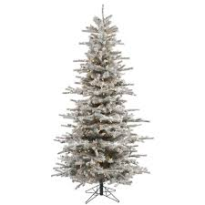 Vickerman Christmas Trees by Flocked Pre Lit Christmas Tree Christmas Lights Decoration