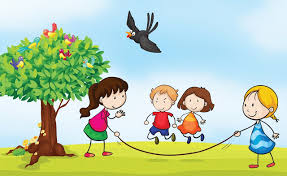 Children Playing Outside Clipart Kid